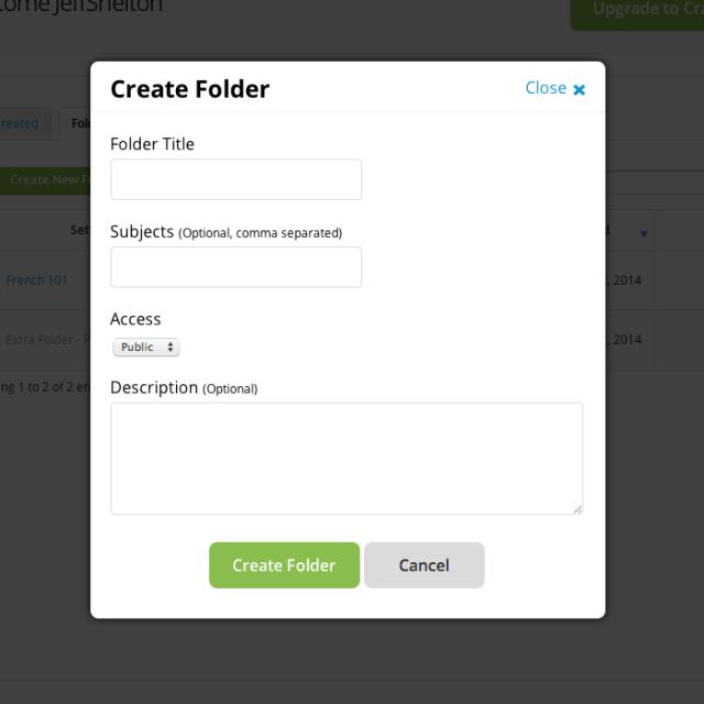 CRF - Add a Folder