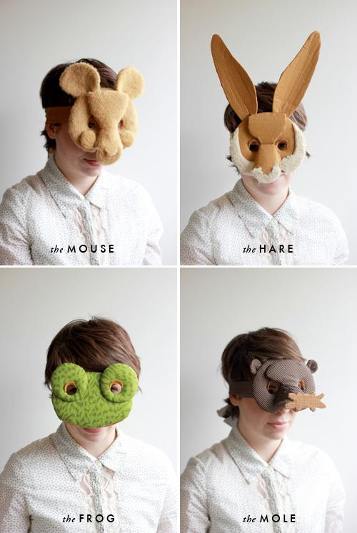 mouse-hare-frog-mole-masks